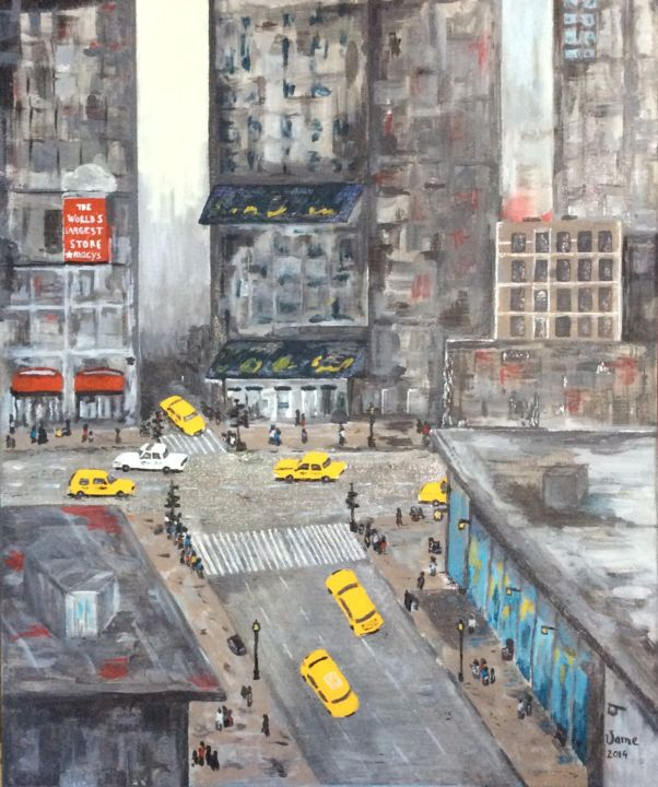 """Painting titled """"New york City"""" by Vame, Original Art,"""