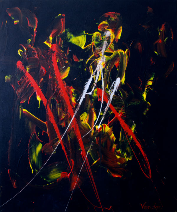 """Painting titled """"i-am-wrong-50x60cm"""" by Andrew Vander, Original Art, Acrylic"""