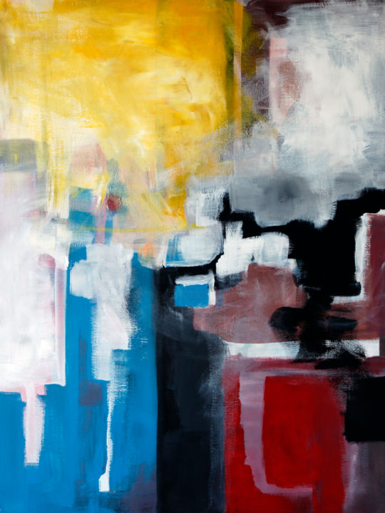 """Painting titled """"SUMMER. COMPOSITION…"""" by Andrew Vander, Original Art, Acrylic"""