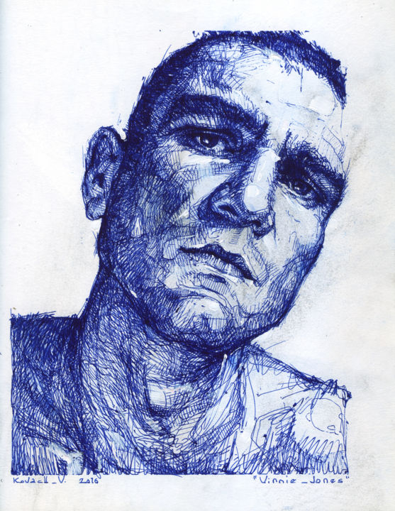 Drawing, ballpoint pen, expressionism, artwork by Vasiliy Kovach