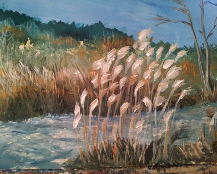 """Painting titled """"Fall in the Laurent…"""" by Vasko Delev, Original Art, Acrylic"""