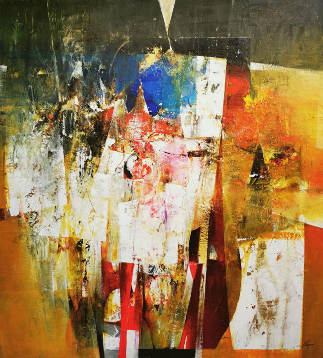 """Painting titled """"The invisible world…"""" by Vasil Vasilev, Original Art, Acrylic Mounted on Stretcher frame"""