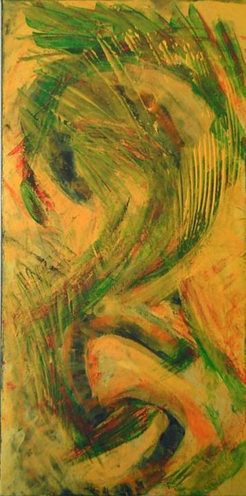 25 - Painting,  36x18 in ©2005 by vCasey -                            Abstract Art, acrylic abstract painting on canvas vcasey artmajeur vcasey.com