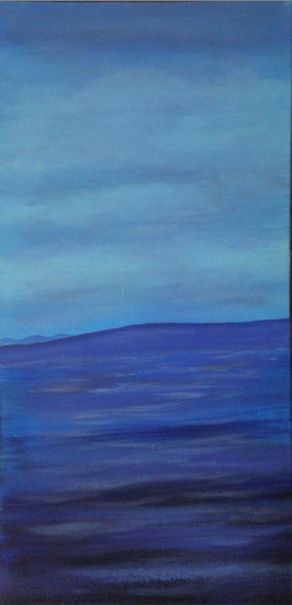"""Painting titled """"blue day"""" by Vcasey, Original Art,"""