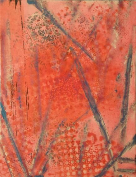 PINK ECSTASY - Painting,  18x14 in ©2008 by vCasey -            acrylic abstract painting on canvas vcasey artmajeur vcasey.com