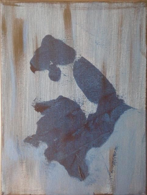 blue arm - Painting,  9x12 in ©2008 by vCasey -