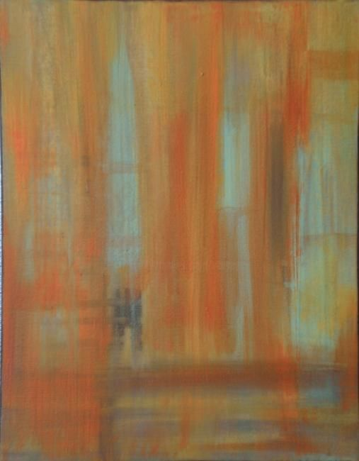 Sweet Dreams - Painting,  14x11 in ©2009 by vCasey -            abstract acrylic on canvas vcasey