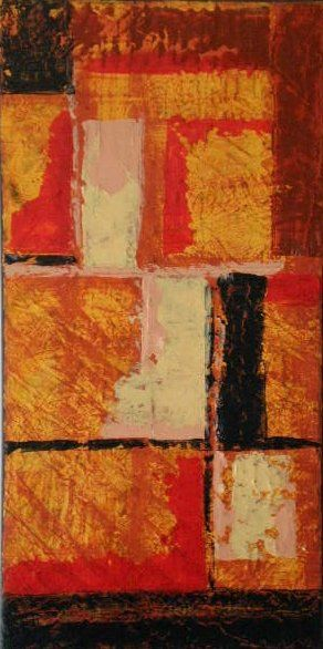 Ode à Germain - Painting,  12x24 in ©2007 by vCasey -                            Abstract Art, abstract acrylic on canvas vcasey vcasey.com