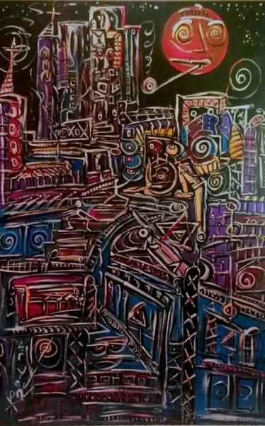 """Painting titled """"Whatdoesitmean"""" by Nardus, Original Art, Acrylic"""