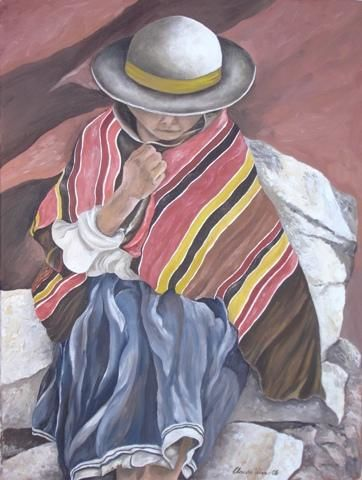 """Painting titled """"Time for Rest"""" by Claudia Velasco, Original Art,"""