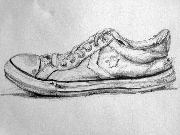 Shoes 13 drawing by vella artmajeur