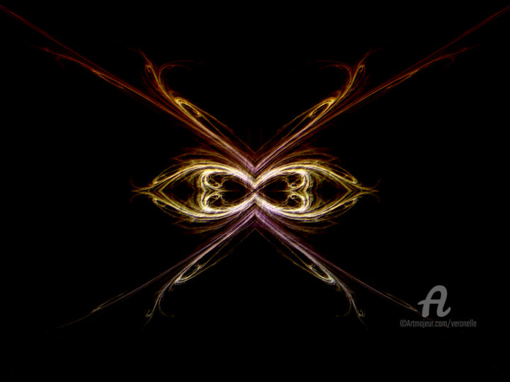 Insecte - Digital Arts, ©2019 by Veronelle -                                                                                                                                                                                                                                                                      Abstract, abstract-570, Abstract Art, fractale insecte, veronelle