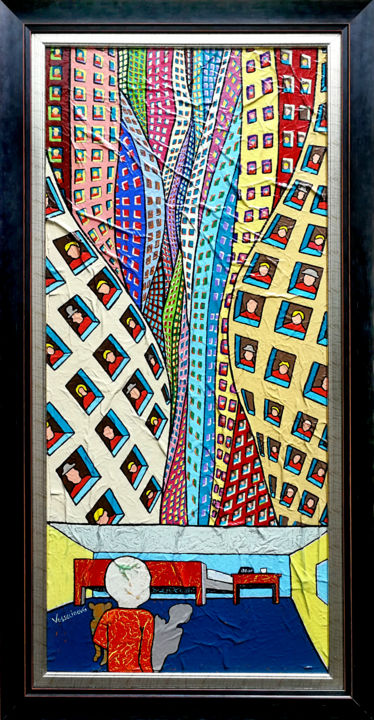 """Painting titled """"Lonely Childhood In…"""" by Vlado Vesselinov, Original Art, Acrylic"""