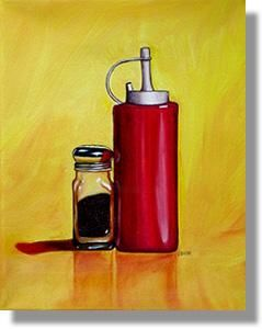 """Painting titled """"Still Life II"""" by Vic Vicini, Original Art,"""