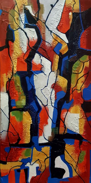 """Painting titled """"Textured Abstract T…"""" by Vickie Martin, Original Art, Acrylic"""