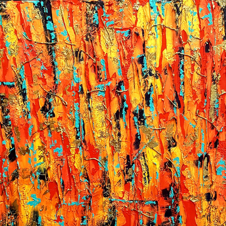 """Painting titled """"Textured Abstract G…"""" by Vickie Martin, Original Art, Acrylic"""