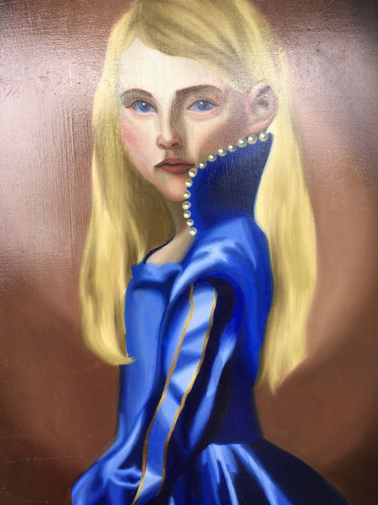 """Painting titled """"Petite blond"""" by Victoria Lima, Original Art, Oil"""