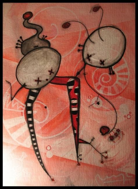 """Painting titled """"Los engendros conve…"""" by Buga, Original Art,"""