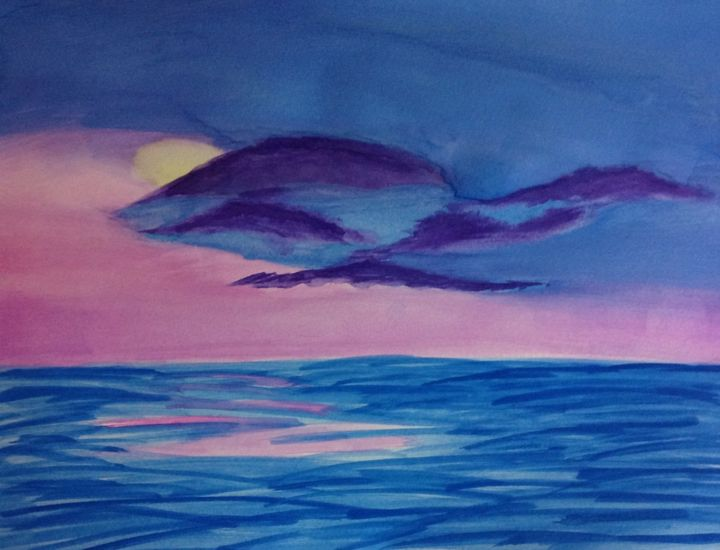 """Painting titled """"Peaceful Water"""" by Victoria Pelarenos, Original Art, Oil"""