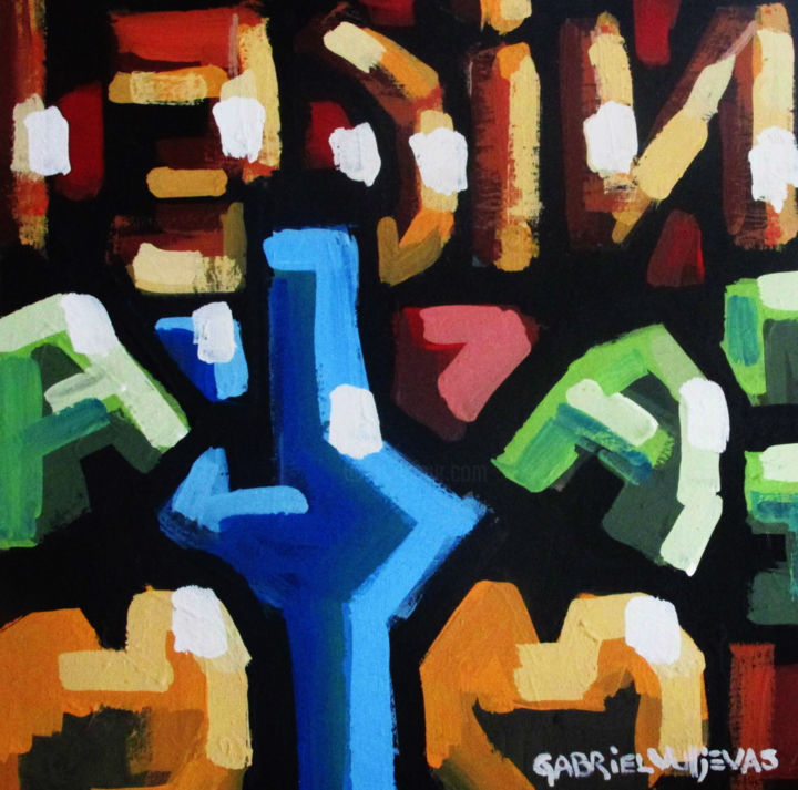 """Painting titled """"titulo-nice-autor-g…"""" by Victoria Rodriguez, Original Art,"""