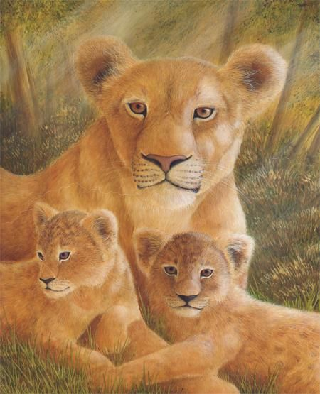 """Painting titled """"Serengeti Splendour"""" by Victoria Armstrong, Original Art, Oil"""