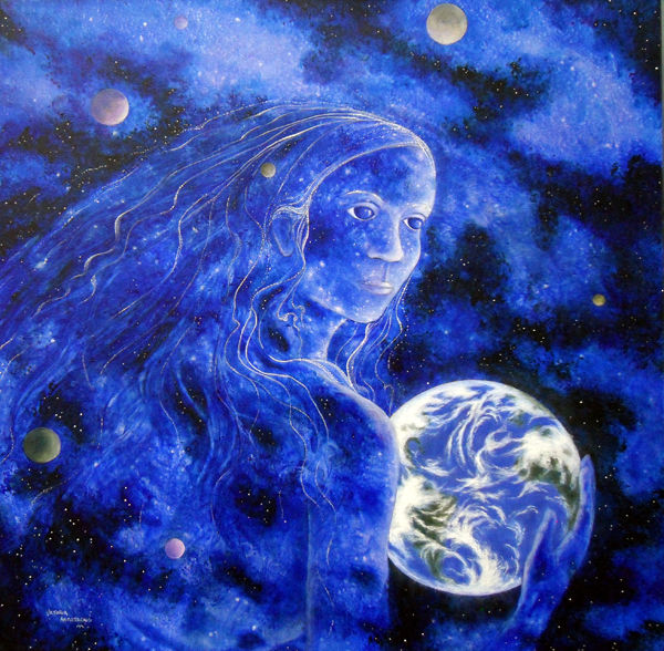 """Painting titled """"gaia-s-hope.jpg"""" by Victoria Armstrong, Original Art, Acrylic"""