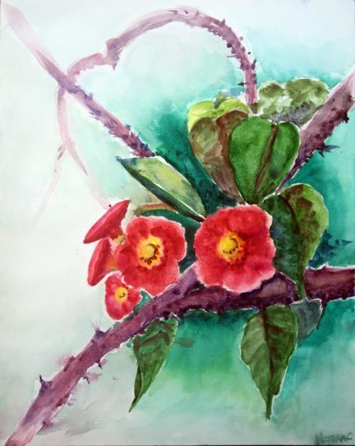 """Painting titled """"Crown of Thorns"""" by Victoria C, Original Art, Oil"""