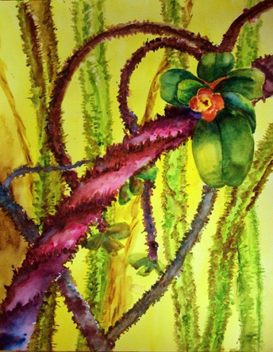 """Painting titled """"Serpentine"""" by Victoria C, Original Art, Oil"""