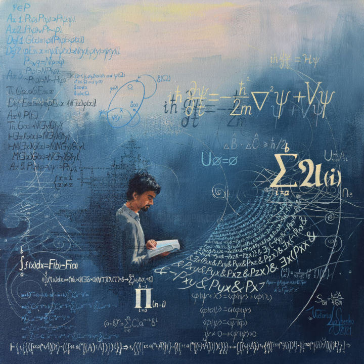 """Painting titled """"Our mathematical un…"""" by Victoria Lyashenko, Original Art, Acrylic"""