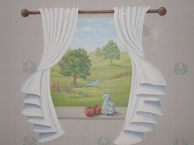 Leisure World Murals - Painting,  60x60 in, ©2010 by Victoria Wallace -