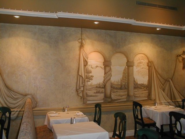 Avenue Rd and Eglinton W Restaurant Mural - Painting ©2010 by Victoria Wallace -