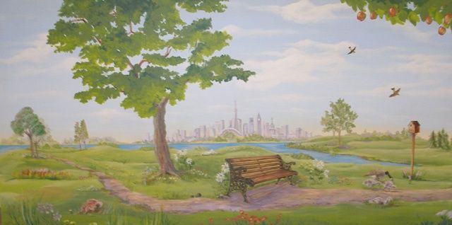 """Painting titled """"Leisure World Murals"""" by Victoria Wallace, Original Art,"""