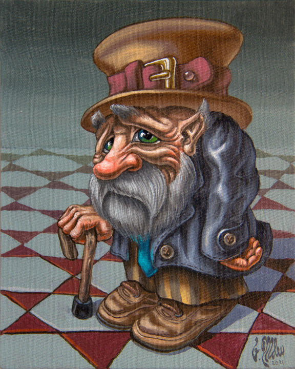 """Painting titled """"Resentful"""" by Victor Molev, Original Art, Oil"""