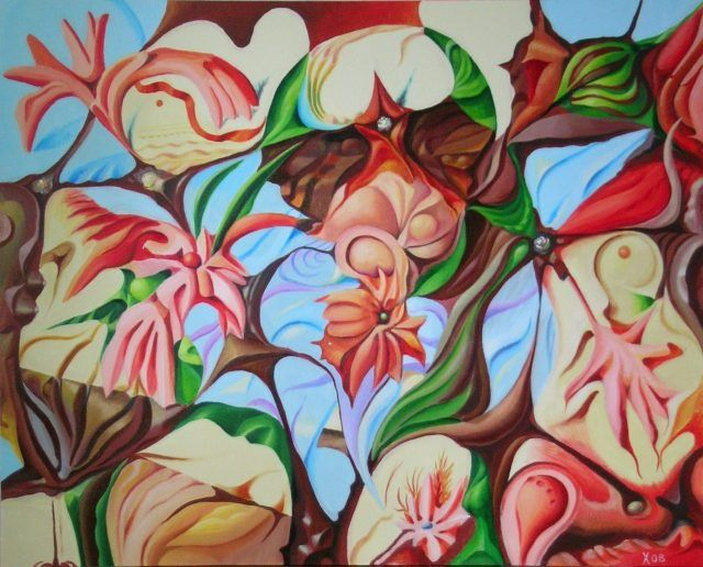 Painting, oil, artwork by Victor X