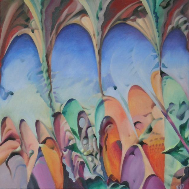 Thoughts About the Middle East Go From Right To Left - Мысли о Ближнем Востоке Идут Справа Налево - Painting,  60x60 cm ©2010 by Victor X -                            Contemporary painting, Thoughts About the Middle East Go From Right To Left
