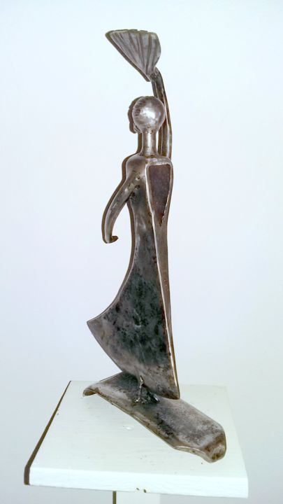DANSEUSE SEVILLANE - Sculpture,  37x18x6 cm ©2018 by Gerard LAMI -                                                        Figurative Art, Metal, Women