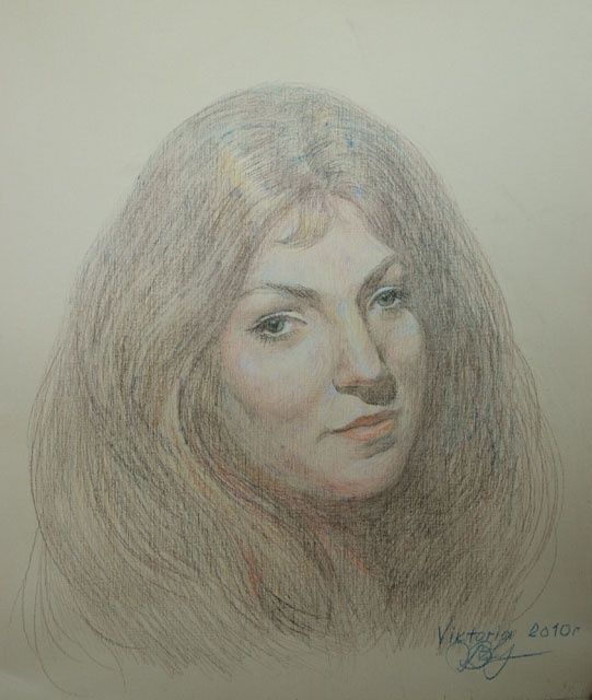 Drawing,  44 x 35 cm ©2010 by VIKTORIA KOROTAEVA -  Drawing, Portraits