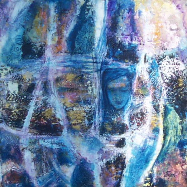 """Painting titled """"Face it."""" by Villy Fyhn, Original Art,"""