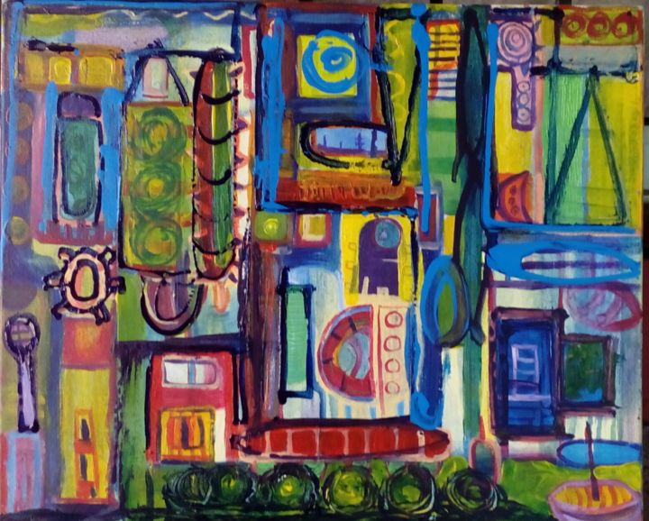 """Painting titled """"Sin titulo"""" by Vincent Blümer, Original Art, Acrylic"""