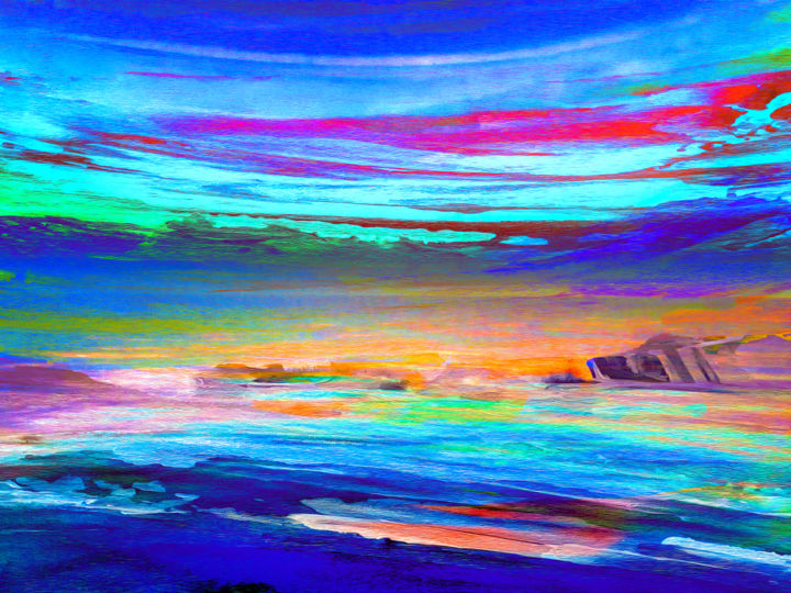 Color Painting, digital painting, abstract, artwork by Vincent Sébart