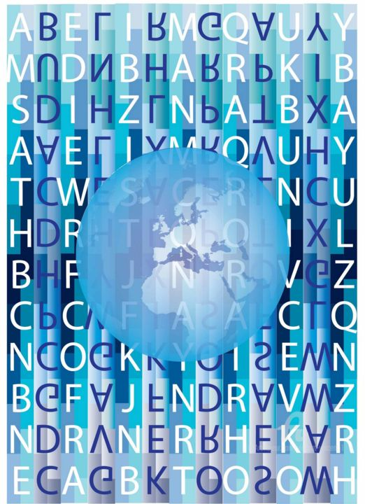 A-Z Airports Around the World in a Quantum Leap... - Digital Arts,  30x20x0 cm ©2018 by Vincent da Vinci -                                                                                                                                                                                                Abstract Art, Conceptual Art, Cubism, Illustration, Pop Art, Symbolism, Paper, Abstract Art, Airplane, Places, Science & Technology, Travel, Typography, World Culture, Airplanes, Airports, paris