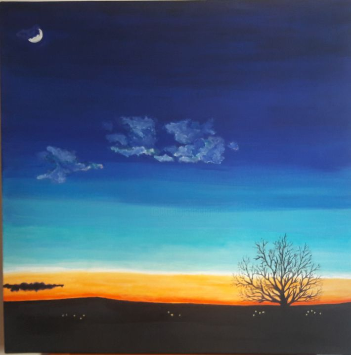 """Painting titled """"Tramonto"""" by Vincent The Voice, Original Art, Acrylic"""
