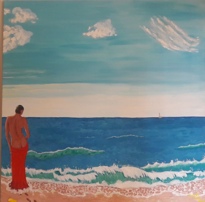 """Painting titled """"Vivere"""" by Vincent The Voice, Original Art, Acrylic"""