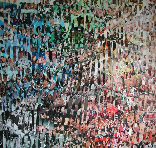 """Painting titled """"collage"""" by Vincenzo Dornetti, Original Art, Oil"""