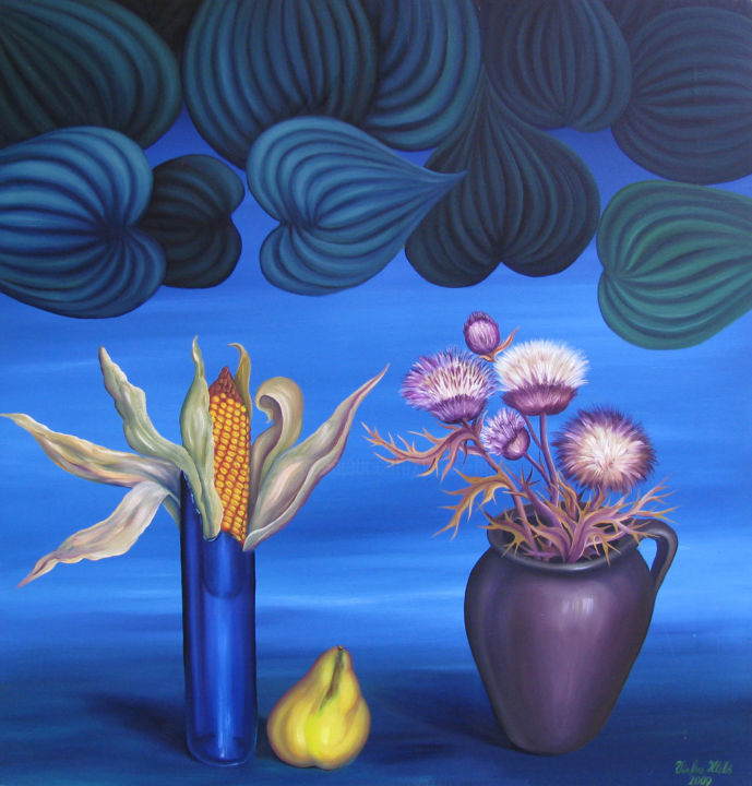 """Painting titled """"Still life"""" by Vinko Hlebs, Original Art, Oil"""