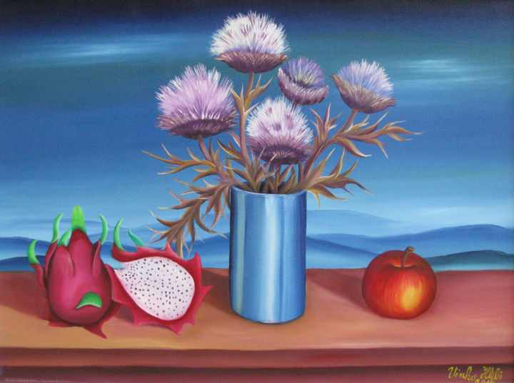 """Painting titled """"Still life 3"""" by Vinko Hlebs, Original Art, Oil"""