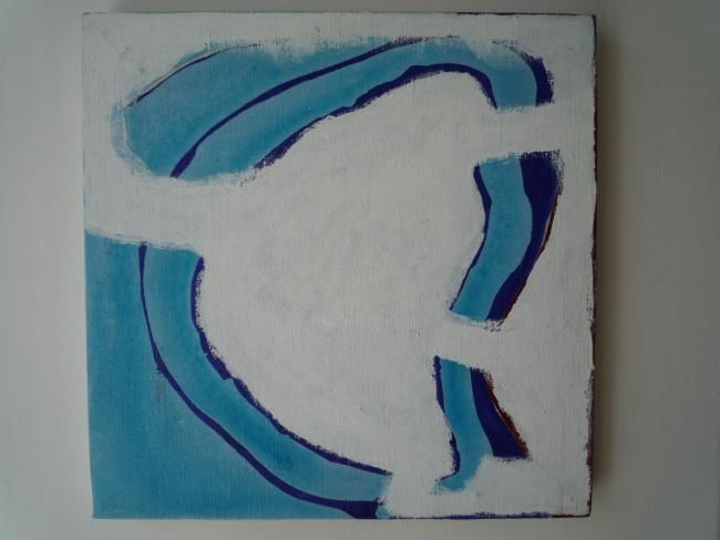 Painting,  30 x 30 cm ©1999 by Virginie Gallé -  Painting, art contemporain peinture bleue Virginie Gallé Beaux-Arts Paris