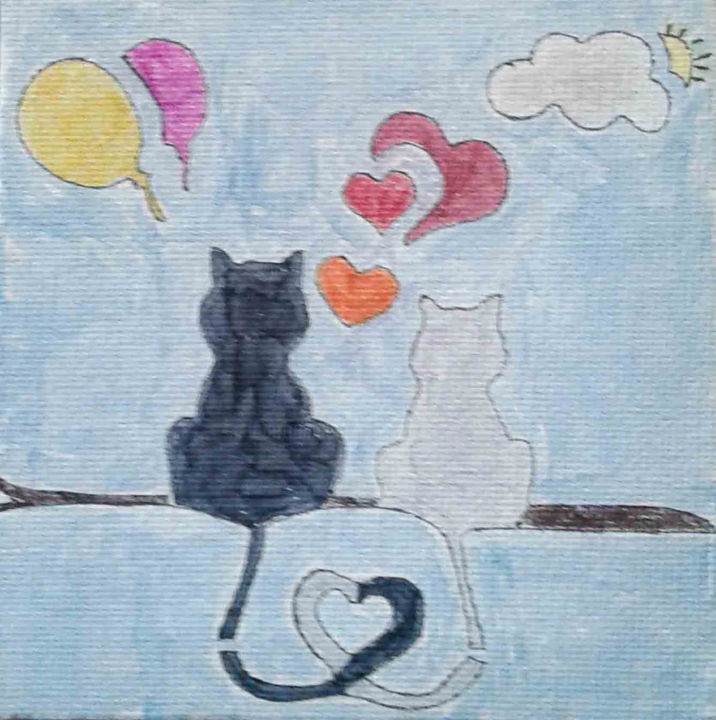 Cozy Cats - © 2019 cats, kids, balloons Online Artworks