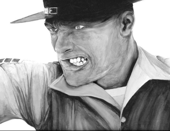 """Painting titled """"The Drill Instructor"""" by Robert Anthony, Original Art, Oil"""