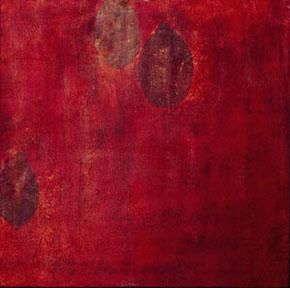 """Painting titled """"Red Rising"""" by Roxanne Vise, Original Art, Oil"""
